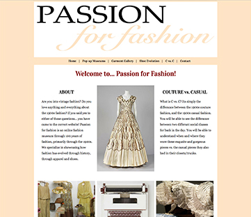 Passion for Fashion Museum