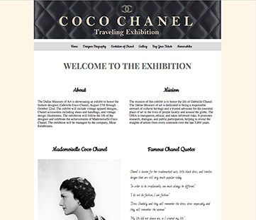 Coco Chanel Traveling Exhibit